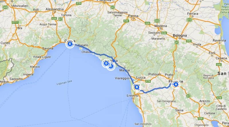 Road Map Of France And Italy.Road Trip Italy France Pisa Portovenere Cinque Terre Road Trip