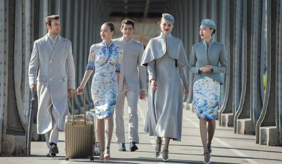 THE HAINAN AIRLINES HAUTE - COUTURE UNIFORMS