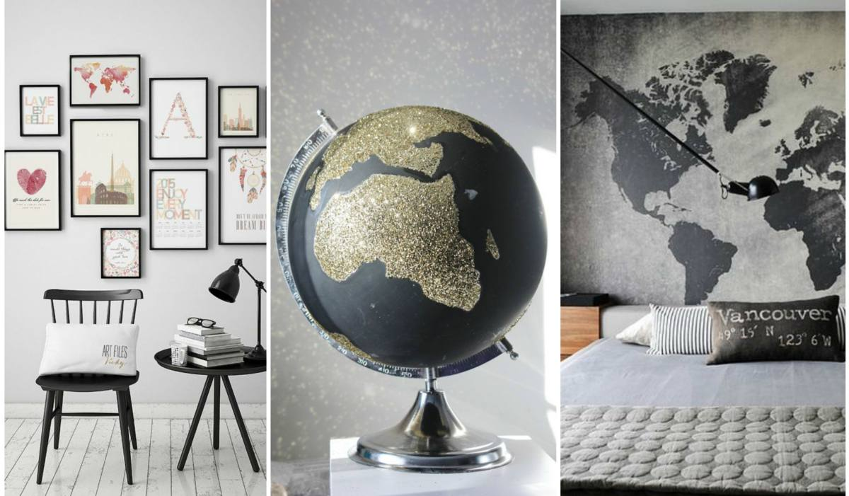5 ΤRAVEL-INSPIRED DECO IDEAS