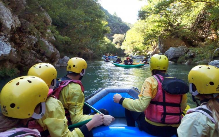 RAFTING IN LOUSIOS RIVER