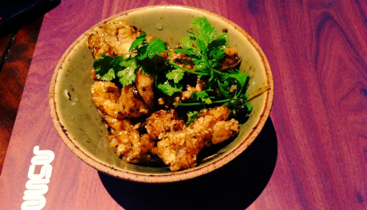 FOODHOP LONDON: GINGER CALAMARI IN BUSABA EATHAI